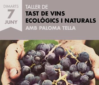 banner TALLER DE TAST DE VINS ECOLÒGICS I NATURALS