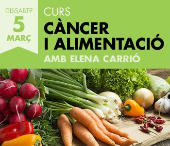 banner Curs sobre alimentació i càncer amb Elena Carrió
