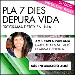 banner Pla 7 dies Depura Vida amb Carla Zaplana · 2a EDICIÓ
