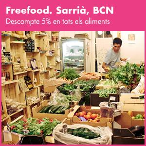 banner Freefood. Barri de Sarrià.
