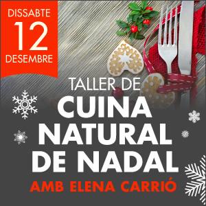 banner Taller de cuina natural de Nadal