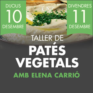 banner Taller de patés vegetals