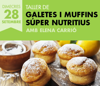 banner Taller de Galetes i muffins súper nutritius