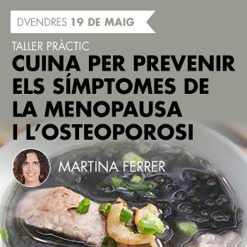 banner Cuina per prevenir els símptomes de la menopausa i l'osteoporosi