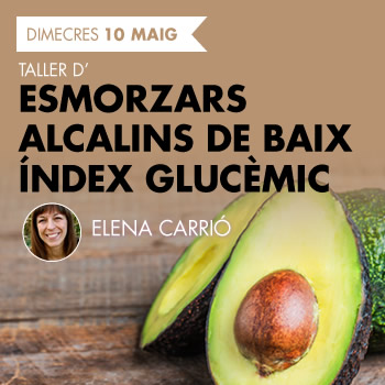 banner Taller d'Esmorzars alcalins de baix índex glucèmic