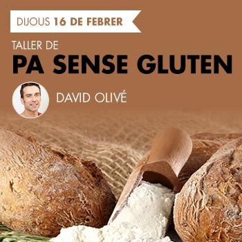 banner Taller de pa sense gluten amb David Olivé